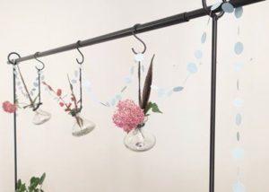Tafelklem met planten
